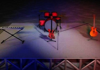Concert Stage Free 3d Model