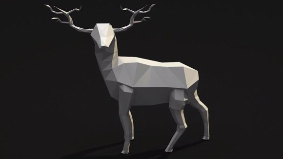 Low Poly Deer Free 3d Model