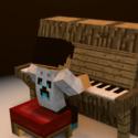 Klavír Minecraft s hráčem