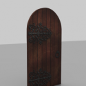 Vintage středověké dveře