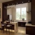 Modern Interior Kitchen Warm Style Interior