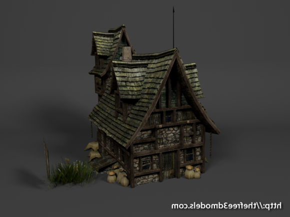 Download Freebies 3d Free Medieval House Free Free