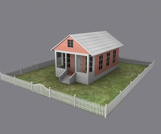 Download freebies 3d free cottage house free 3d Home 3d model