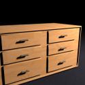 Wooden Dresser Furniture 3d Model