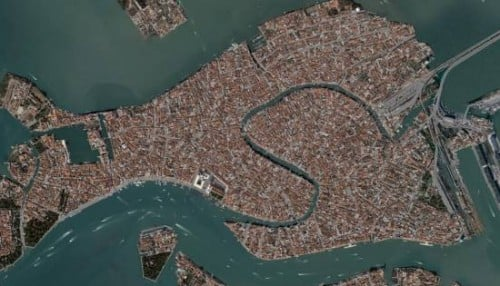 Venetsian ilmakaupungin ulkokuva