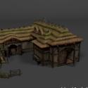 Medieval Farm House Free 3d Model