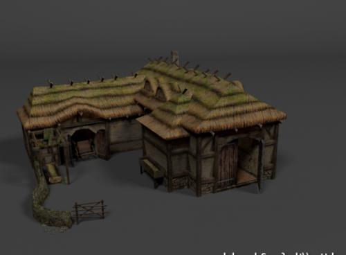 منزل مزرعة القرون الوسطى