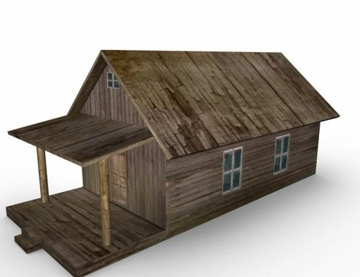 Old Farm House Free 3d Model