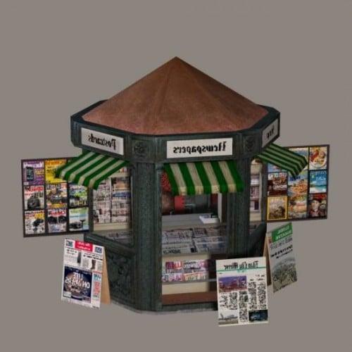 News Stand Shop Free 3D Model (3ds, Obj) - Open3dModel
