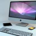 Apple Imac Met Toetsenbord Iphone