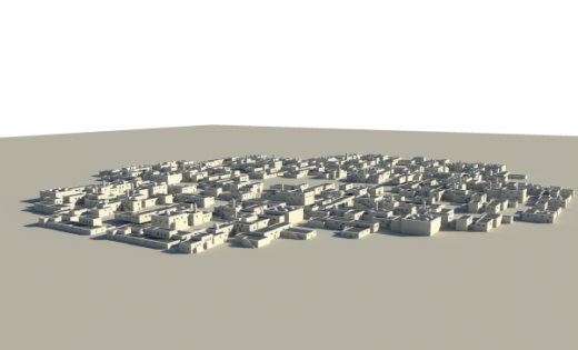 Small Desert City Free 3d Model ID7089 - Free Download () - Open3dModel