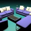 Sofa Furniture Combo 3d Model Free