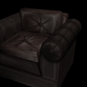 Classic Leather Sofa Chair 3d Model
