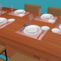 Dinning Table  Furniture Set 3d Models