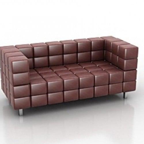 Rectangle Leather Sofa