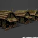 中世の小屋セット