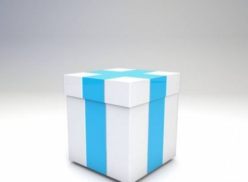 Christmas Gif Box 3d Model Free