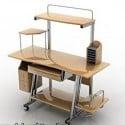 Computer Table Set 3d Model