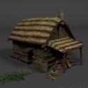Medieval Hut House 3d Model