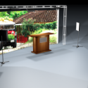 Relax Set Scene with Big Television 3d Model