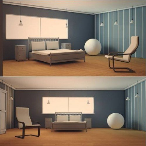 bedroom interior scene 3d model id8250 free download obj