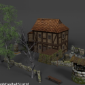 Medieval Ultimate House With Backyard Free 3d Model