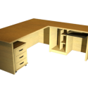 Office Table Corner Free Furniture 3d Model