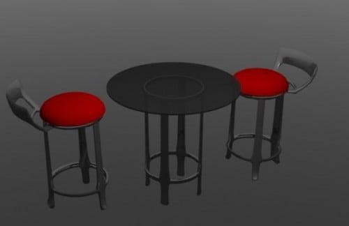 Coffee Shop Chair Table