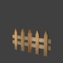 Wooden Fence Free 3d Model