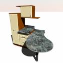 Furniture Kitchen Free 3d Model