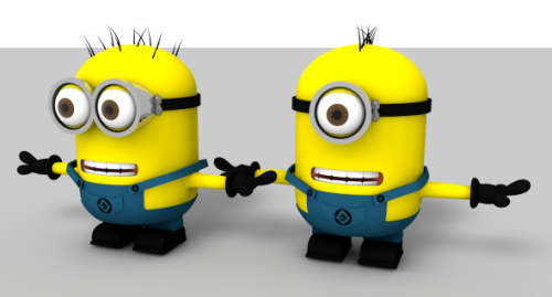 Minions Fully Rigged Character 3d Model Id8211 Free