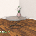 Curved Glass Table 3d Model