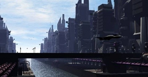 Sci-fi Downtown City Scene