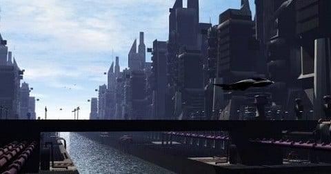 Sci-fi Downtown City Free 3d Model