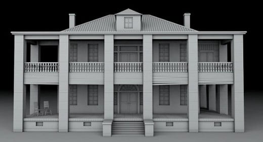 Hewitt House Free 3d Model Id7099 Free Download 3ds