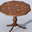 Horoscop Wood Table 3d Model