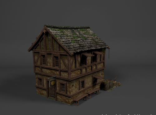 Freebies 3d freebies 3d models medieval house building Build house online 3d free