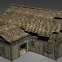 Subúrbios da casa de madeira