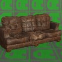 Gaming Vintage Leather Sofa