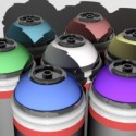 Graffiti Cans Free 3d Model