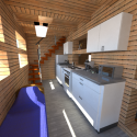 Village House Interior Scene 3d Model