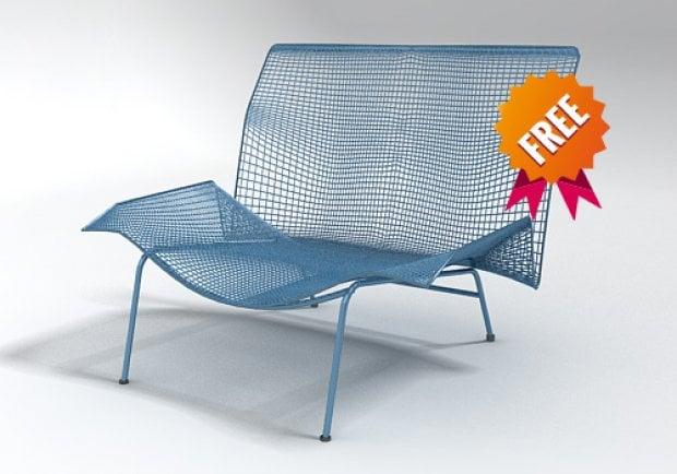 Metal Wire Modern Armchair