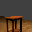Wodden Table Free Furnitue 3d Model