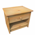 Bedside Table Wooden Skins 3d Model
