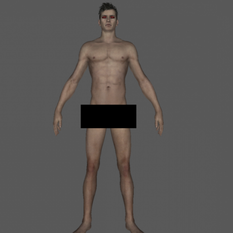 Dante personaje desnudo