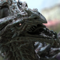 Animated Alduin Dragon Character