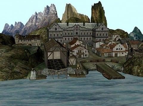 جزيرة مع قرية