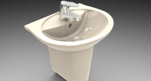 Classic Porcelain Washbasin Free 3d Model ID7801 - Free