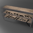 Old Wooden Shelf 3d Model
