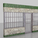 Prison Door Frame 3d Model